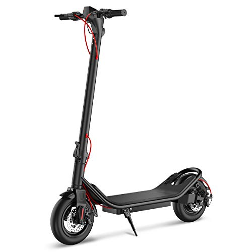 TOEU E-Scooter Faltbarer Elektroroller Erwachsene 25 km/h 350W Motor Electric Scooter (Black)