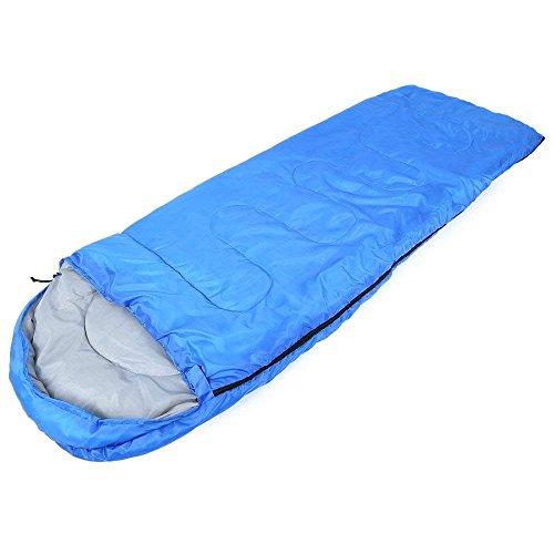 Candora Camping Style enveloppe à Capuche Mince Creux Coton Sac de Couchage, Bleu