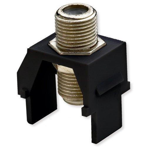 Legrand - On-Q WP3479BK NonRecessed Nickel FConnector, Black