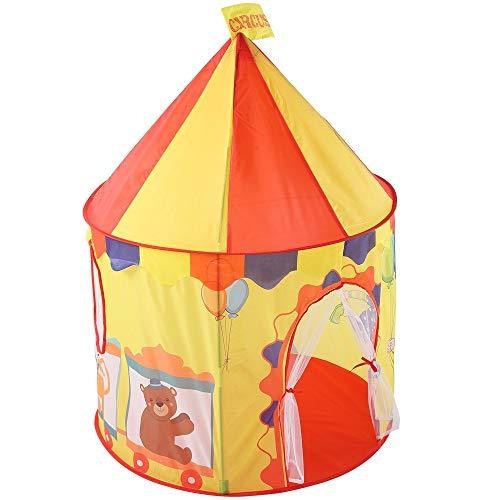 Veelzijdige kindertent Kinderen Ruimte Pop-up Speelhuis Speelgoed Tent Vouwbare Prinses Grote Tent Spel Vermaak Camping Tent Met Schattige Beer Ballon Patroon Ontwerp