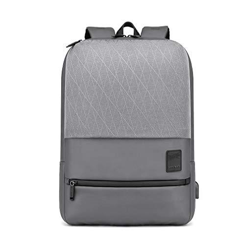 Arctic Hunter Rog - Zaino da uomo Business Laptop Daypack, impermeabile, con USB, tablet e borsa per laptop