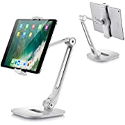 """Homeleader Aluminum Tablet Stand, Adjustable iPad Stand with 360°Swivel, Folding Tablet Holder fits 4-11"""" Tablets/Smartphones for Samsung, iPad, iPhone, Kindle"""
