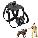 Pet Chest Strap Soft Vest with Adjustable Buckle, No Pull Dog Harness with Camera Mount for Hero 8/7/ 6/5/ 4/ Dazzne P2/ SJ4000/ SJCAM/Session/Osmo Action
