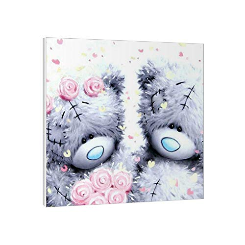 USUN Diamond Painting Kits Bear,DIY 5D Diamond Painting With Frame For Adults & Kids,Full Drill Crystal Rhinestone Perfect for Home Wall Décor 9.4x9.4 inch 2021 valentine's day Gift (Lovers Bear)