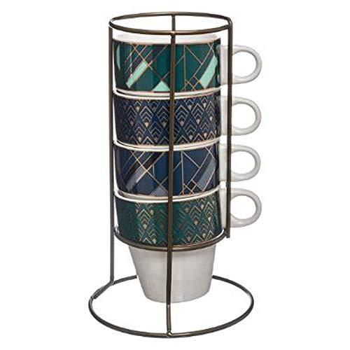 Secret de Gourmet - Lot de 4 Mugs Sur Rack\