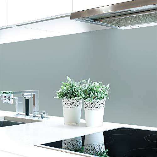 Keuken achterwand grijstinten 2 effen kleuren Premium hard PVC 0,4 mm zelfklevend - direct op de tegels 120 x 60 cm Cementgrijs