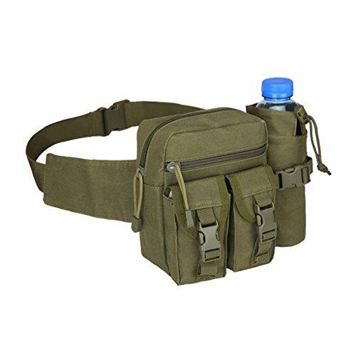 HMILYDYK - Sac banane militaire multifonctionnel - Sac banane étanche avec poches pour bouteille d'eau - Pour randonnée, escalade, voyage, course à pied, pêche en plein air, GUWTBLWRTBAG-05, Camo Digital
