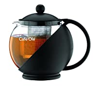 café ole everyday cmp 07tp, infusore teiera con cesto, nero, 700 ml/ 24 oz