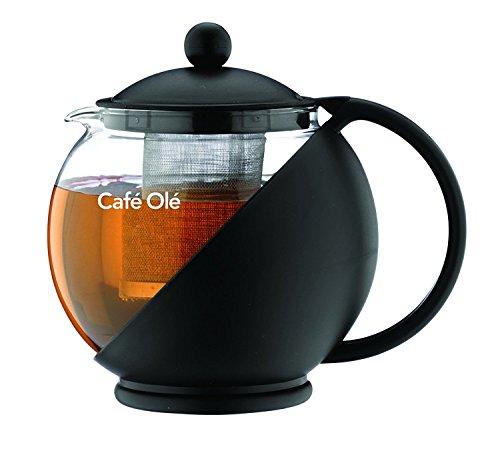 Café Ole Everyday CMP 07TP, Infusore Teiera con Cesto, Nero, 700 ml/ 24 oz
