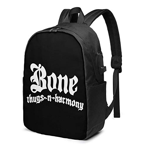 PCYN USB 17inch Backpack Bone Thugs N Harmony School Business Durable Laptops Bag Charging Port Gifts Men Women Student