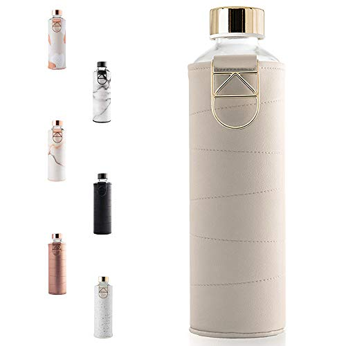 EQUA Trinkflasche beige, goldfarben, 750 ml, MM faux BE