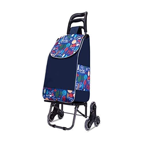ZWJ Einkaufswagen Einkaufstrolley Trolley Creative-Light- Fashion Wear-Resistant Einkaufswagen Folding Multi-Function Vorbereitung Autoeinkaufswagen Kleiner Wagen Ist for Das Einkaufen Gebraucht