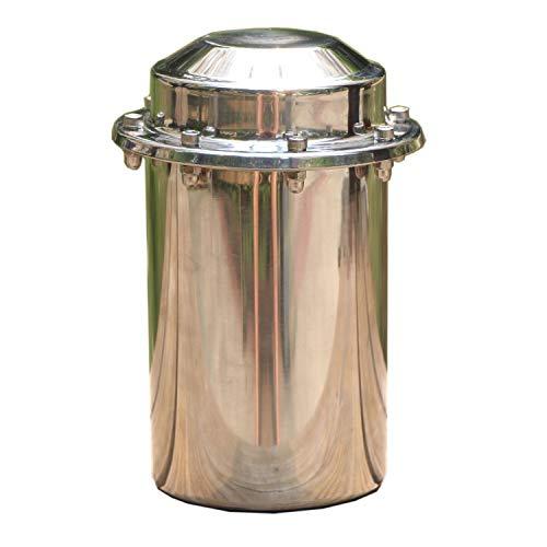 Fcyylight Edelstahl Zeitkapsel Wasserdichter Behälter Haltbarer Verschlussbehälter Lagerung Zukünftiges Geschenk 7,9 Zoll