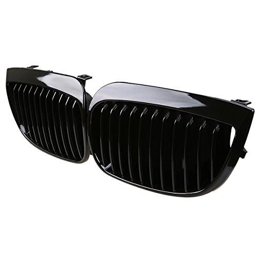 Preisvergleich Produktbild Possbay Front Kühlergrill Nieren Grill Gitter für E87 E81 Vorfacelift,  Glänzend Schwarz,  2pcs