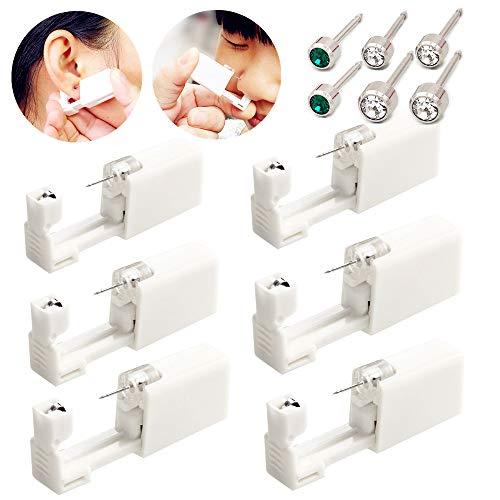 Juego de 6 piercings desechables para las orejas