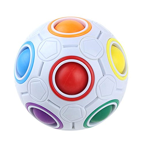 TOOGOO Creative Magic Spherical Speed Rainbow Rompecabezas Ball Football Ninos Rompecabezas de Aprendizaje Educativo Juguetes para ninos Adultos