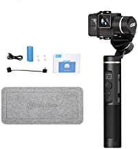 FeiyuTech G6 Gimbal Stabilizer for Gopro 3-Axis Handheld Gimbal for Action Camera Hero 8(fixture),7,6,5/Sony RX0/Yi 4k/Dji Osmo Spalsh-Proof,Wifi&Bluetooth,Metal Texture with Screen,Offical-Authorized