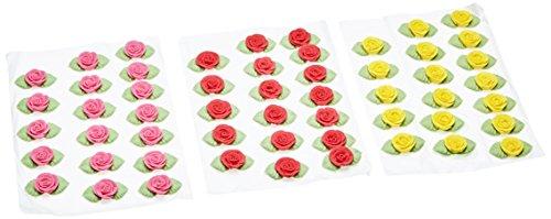 Günthart Essbare farbige Zuckerrosen mit Blättern, sortiert, 1er Pack (1 x 220 g)