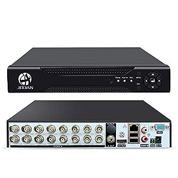 16 Channels 5MP[Update]DVR Recorder Hybrid 5-in-1 DVR H.265 16CH Security Digital Video Recorder Support Analog AHD/ IP /TVI/CVBS/CVI Camera No Hard Drive