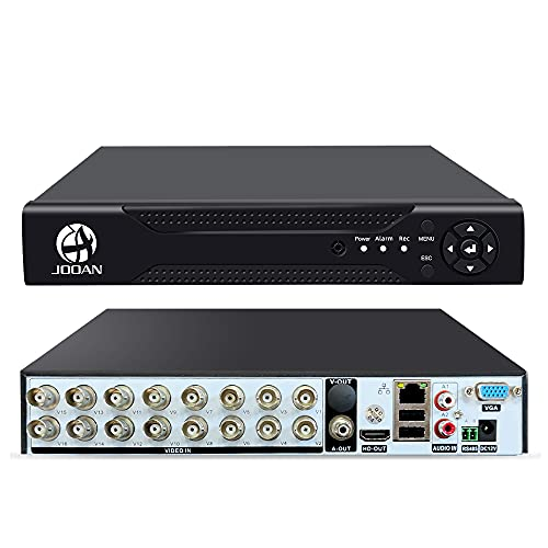 16 Channels 5MP[Update]DVR Recorder Hybrid 5-in-1 DVR H.265 16CH Security Digital Video Recorder Support Analog AHD/ IP /TVI/CVBS/CVI Camera(No Hard Drive)