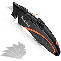 Tacklife Retractable Utility Knife with 5-Piece SK5 Blades