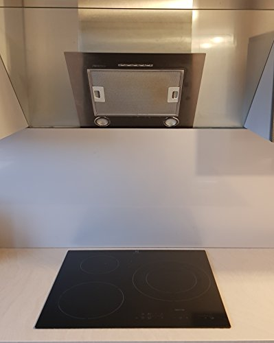 AluCouleur Fond de hotte/Crédence INOX - 11 Tailles - Hauteur 35 cm x (Longueur 80 cm)