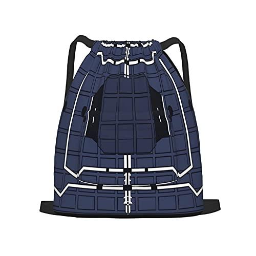 BohoMonos Mochila deportiva con cordón,Rainbow Frost Six Siege, Gym Sackpack para Hombres Mujeres Niños Yoga Travel Camping String Bag.