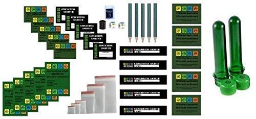 Regular Refill Set - Logbücher und Aufkleber - Wartungsset Maintenance Geocaching Geocache Petling Filmdosen Micro Logstreifen Logbücher