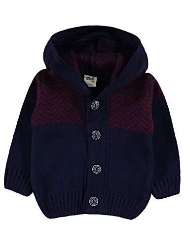 %100 Acryl Baby Jongen Vest met capuchon, 2 kleuren Lange Mouw