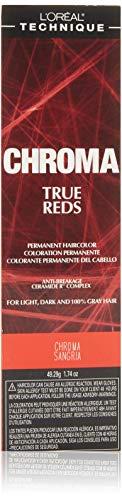 Loreal Chroma True Reds Hair Color - Sangria 1.74 Ounce (51ml) (6 Pack)