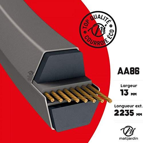 Courroie tondeuse AA86 prix éco, Héxagonale, 13 mm x 2235 mm - Pièce neuve