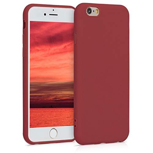 kwmobile Cover Compatibile con Apple iPhone 6 / 6S - Custodia in Silicone TPU - Backcover Protezione Posteriore- Rosso Indiano