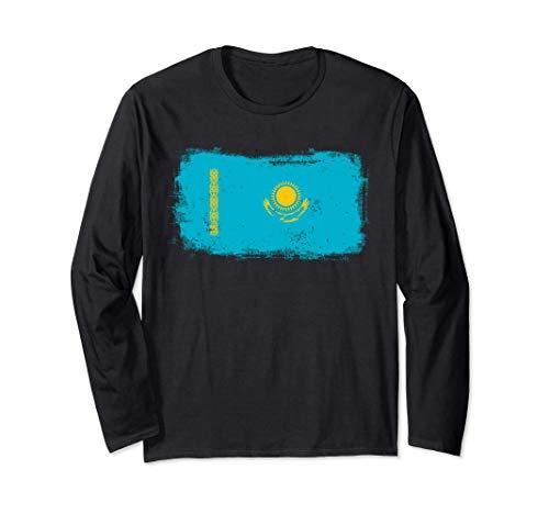 カザフスタンカザフ国旗 長袖Tシャツ