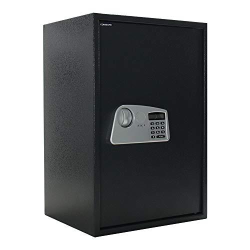 Rottner cassaforte a mobile Trendy 4, in acciaio, di grande capienza con serratura elettronica ed apertura di emergenza meccanica, fissaggio a parete o al pavimento di colore nero.