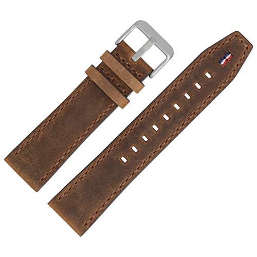 Tommy Hilfiger Uhrenarmband 22mm Leder Braun Glatt - 679302055