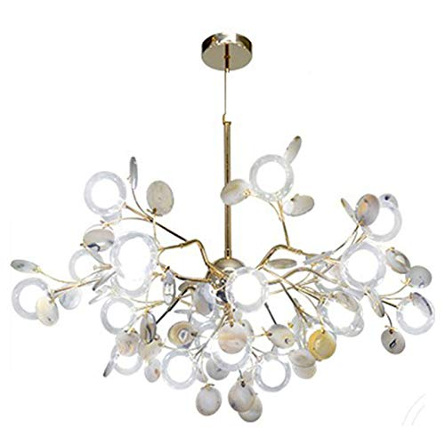 Home Kitchen Accessories Modern Firefly Agate Sputnik Branch Pendant Light G4 Colorful Pendant Lights With Glass Globe Lamp Shade Luxury Agate Stone Chandelier For Living Room Girls Room-Green 13 l