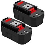Ibanti 2-Pack 3600mAh HPB18 18Volt Ni-Mh Replacement Battery Compatible with Black and Decker 18V Battery HPB18-OPE 244760-00 A1718 FS18FL FSB18 Firestorm Cordless Power Tools