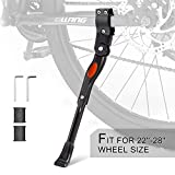UHACKER Adjustable Bicycle Bike Kickstand Aluminum Rear Side Bicycle Stand for Bike 22' 24' 26' 28'