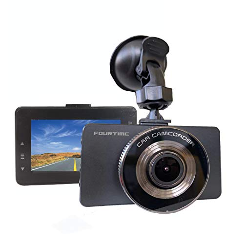 "FORUTIME Dash Cam 1080P DVR Dashboard Camera Full HD 3"" LCD Screen 170°Wide Angle, WDR, G-Sensor, Loop Recording Motion Detection Excellent Video Images(Black)"