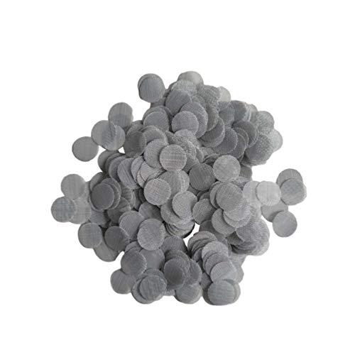 Clispeed 500 Stück Edelstahl-Rohrsiebe Rohrsiebfilter Rohrschalen-Sieb für Tabakpfeifen (20 Mm Silber)