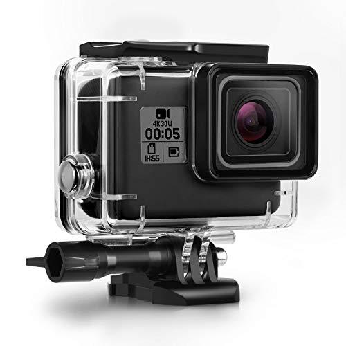 Wasserdichtes Gehäuse Case Kompatibel mit GoPro Hero7/(2018) 6/5 Wasserdichtes Gehäuse Tauchschutzgehäuse Shell 45m mit Halterung Kompatibel mit GoPro Hero7/(2018) 6/5 Black Action Camera