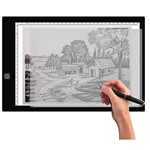 Mogzank Tableta GráFica Caja de Luz de Rastreo LED Tablero de Almohadilla de Mesa de Luz Artcraft de Brillo Regulable Continuo Ultra Delgado (A3)