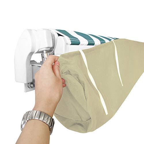 dDanke - Toldo de jardín Impermeable para toldo de Parasol con Bolsa de Almacenamiento (Beige)