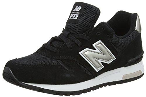 New Balance 565 Sneakers, Zapatillas Mujer, Negro (Black/Silver), 38 EU