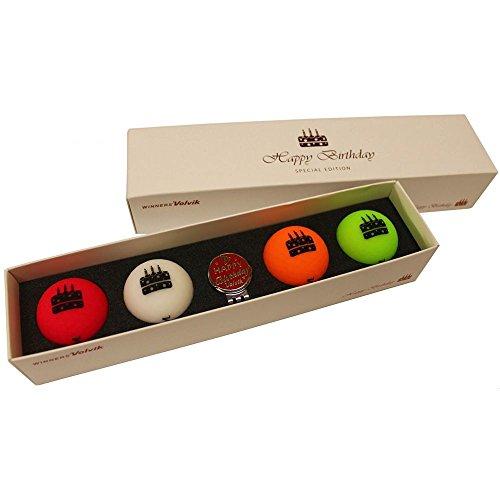 Volvik Vivid Golfbälle, Geschenkpackungen, Unisex, VV0000710, Brithday, 1DZ
