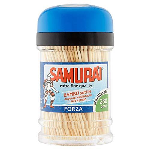 Samurai Stuzzicadenti in Bambu' in Dispenser, 280 Pezzi