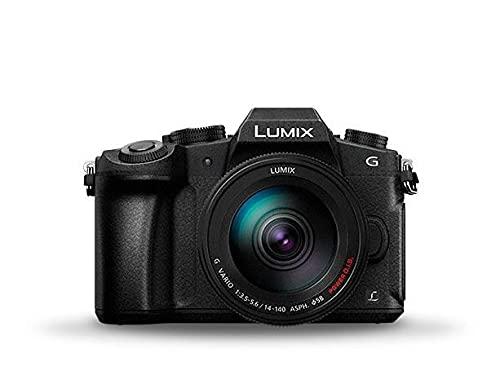 Panasonic Lumix DMC-G80HAEGK DSLM - Cámara fotográfica, Sensor Mos 16 MP, Modo 4 K, Sistema Dual Image Stabilizer de 5 Ejes, Post Focus, Focus Stacking, Objetivo 14 – 140 mm Incluido, Negro