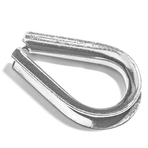 """Stainless Steel 316 Rope Thimble 8mm for rope size 5//16/"""" Marine Grade 5 pieces"""