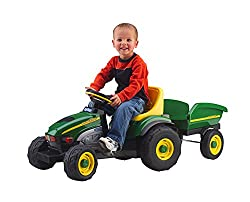 John Deere Farm Tractor and Trailer