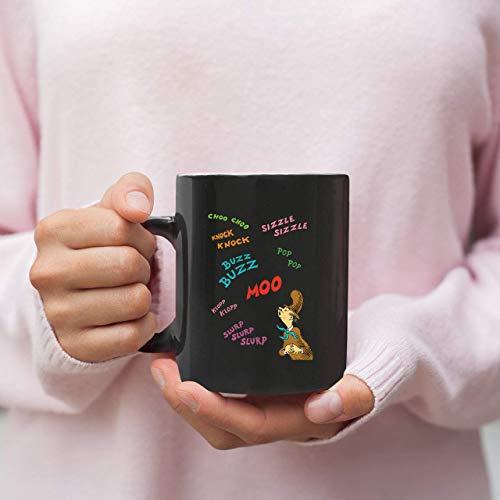 Lplpol Taza de café con texto en inglés 'Dr Seuss Mr Brown Sounds Cherubine' con diseño de dibujos animados Seuss taza personalizada taza de café taza de té de cerámica de 325 ml CM1839